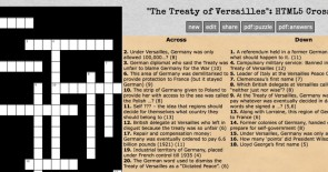 Generate a self-marking crossword for revision
