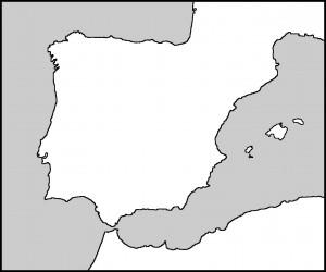 Spain Blank Outline
