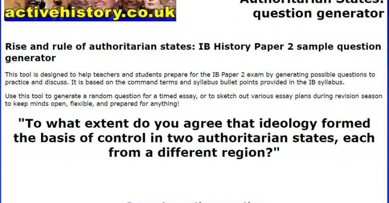 """Design the exam question from hell"" for higher-order revision"