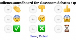 Use this 'audience soundboard' for your classroom debates/discussions!