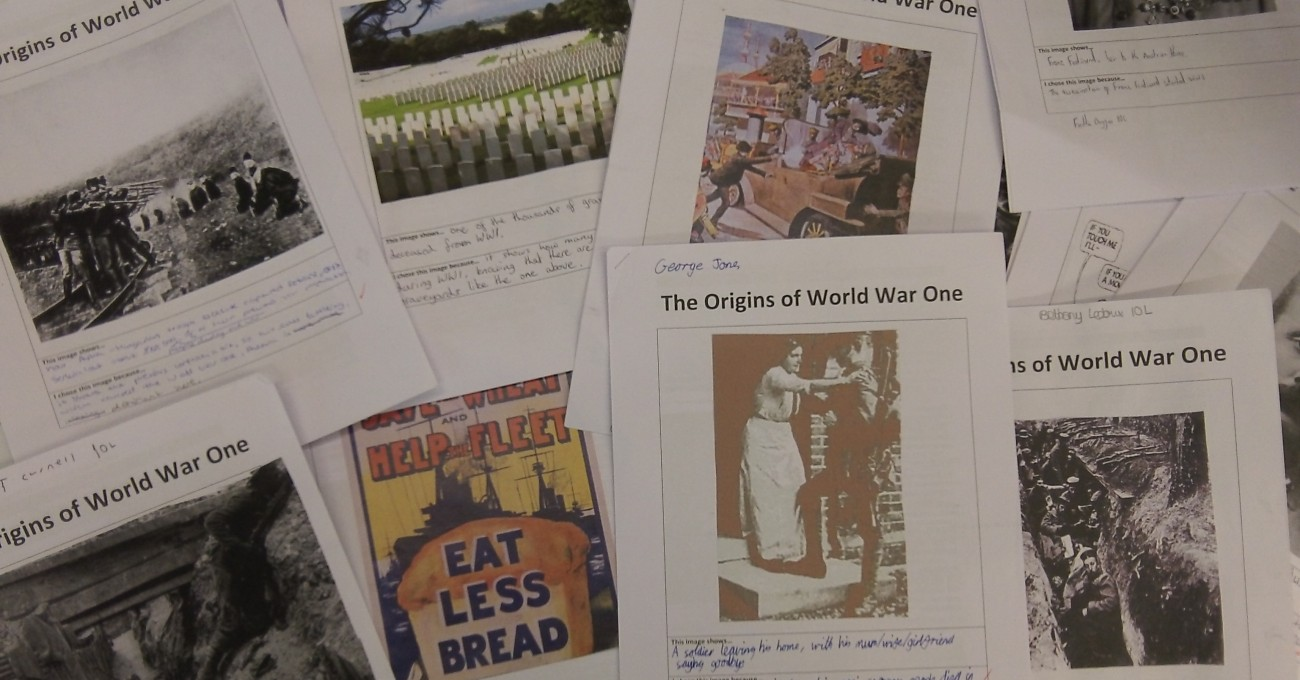 Students design a cover image for their topic packs