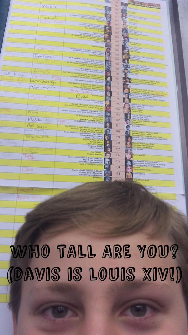 """Who Tall Are You?"" – Classroom display resource"