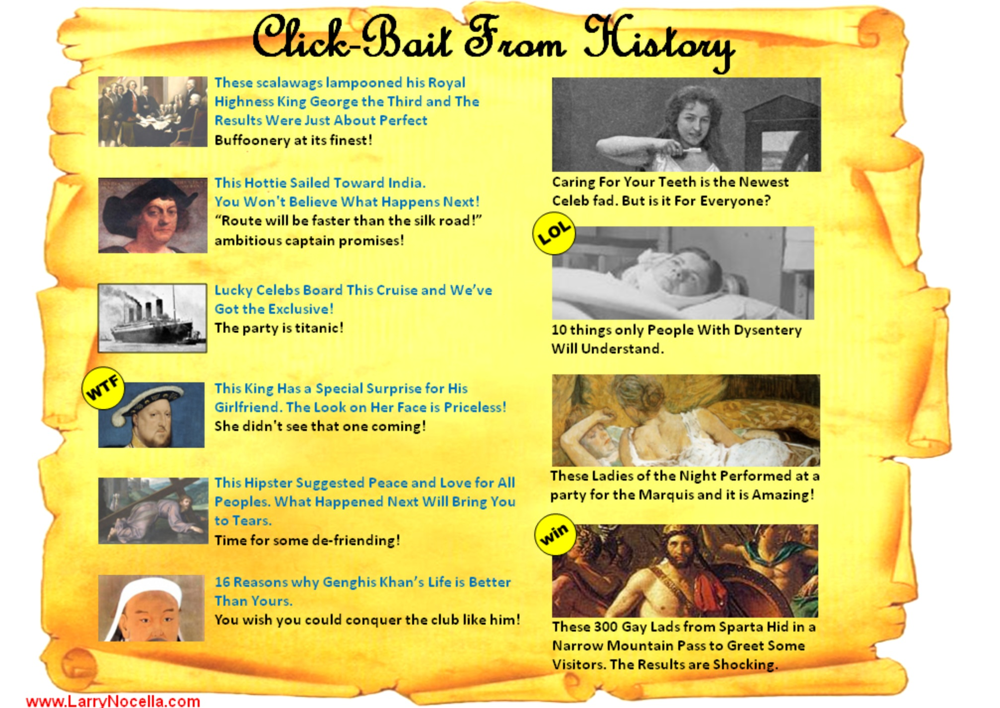 Create a ClickBait Headline as a starter/plenary/revision exercise